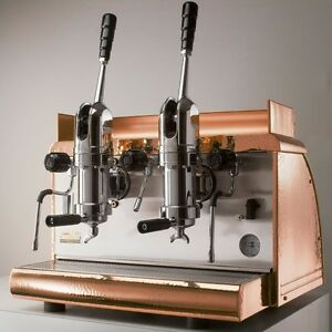 Lever 2 group Espresso Machine Victoria Arduino Copper Free Installation