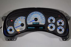 5a 05 06 2005 2006 Factory Reman Custom Ss Gauge Whole Cluster With Blue Leds