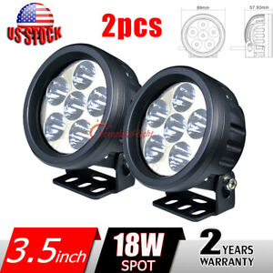 2x 3 5 18w Led Work Light Spot Round Fog Lamp Offroad Driving For Jeep 4wd Atv