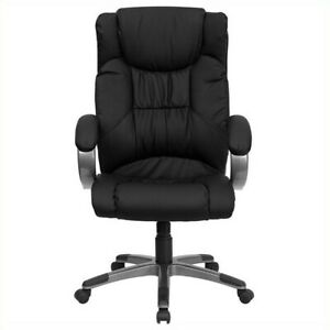 Flash Furniture High Back Executive Office Chair In Black With Arms
