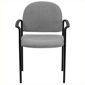 Flash Furniture Stackable Side Guest Chair In Gray