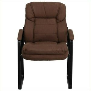 Flash Furniture Executive Side Guest Chair With Sled Base In Brown