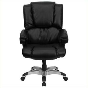 Flash Furniture High Back Leather Executive Office Chair In Black