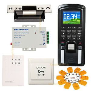 Color Fingerprint rfid Password Door Access Control System Time Attendance Kit