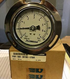 Pressure Gauge 30 Inhg 100 Psi new