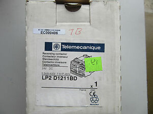 Telemecanique Lp2d1211bd Reversing Contactor 24vdc New In Box Free Shipping