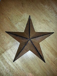 Lot Of 6 Primitive 8 Rusty Barn Stars Decorate Craft Country Rustic Metal