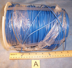 Lot A Blue 16 Awg Simcona Insulated Electric Stranded Copper Wire Cable Spool 13
