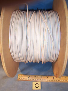 Lot C White 14 Awg Simcona Insulated Electric Stranded Copper Wire Cable Spool
