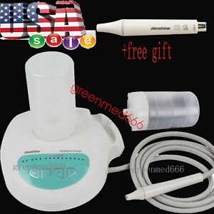 Portable Denshine Dental Ultrasonic Piezo Scaler Handpiece Tips Bottles Fit Ems