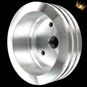 Billet Small Block Chevy Lwp Crankshaft Pulley 3 Groove Fits 283 327 350 383 400