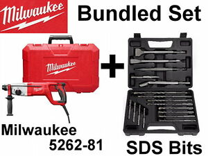 New Milwaukee 5262 81 Sds Plus Rotary Hammer Chisel Drill Bits Kit Set 5262 21