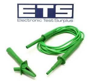 Fluke Test Lead With Alligator Clip Green Tl1550b