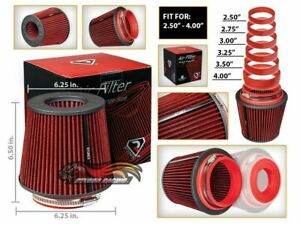 Short Ram Cold Air Intake Filter Round cone Universal Red For Mercedes Benz 3