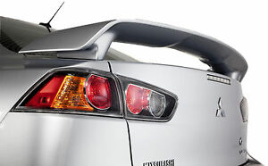 Unpainted Primed Mitsubishi Lancer Factory Style Rear Wing Spoiler 2008 2013
