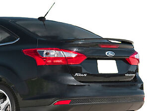 Painted Ford Focus 4 Door Factory Style Rear Wing Spoiler 2012 2014