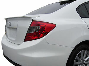 Painted Rear Spoiler For A Honda Civic 4 door Flush Mount Factory Style 2012