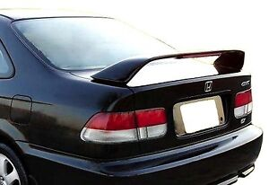 Painted Rear Wing Spoiler For A Honda Civic Si 2 Door 4 Door 1996 2000