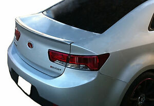 Painted Rear Wing Spoiler For A Kia Forte 2 door Koup 2010 2013