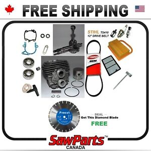 Fits Stihl Ts420 Ts410 Cylinder Piston Crank Engine Rebuild O h Kit Nikasil 50mm