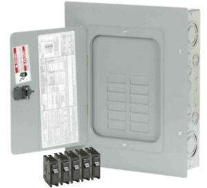 Indoor Main Lug Sub Panel Load Center 12 space 24 circuit W 5 Type br Breakers