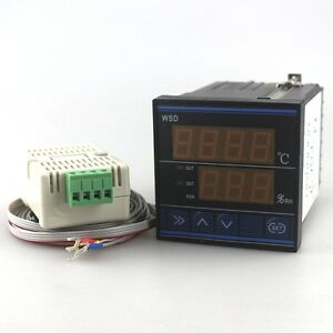 Digital Led Temperature And Humidity Controller With Three Wires Optional