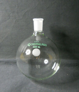 Chemglass 29 42 Joint 2000ml 2l Heavy Wall Round Bottom Flask