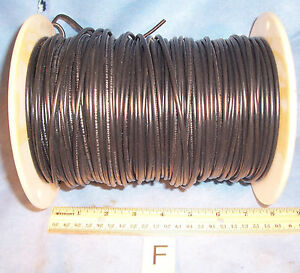 Lot F Black 14 Awg Simcona Insulated Electric Stranded Copper Wire Cable Spool