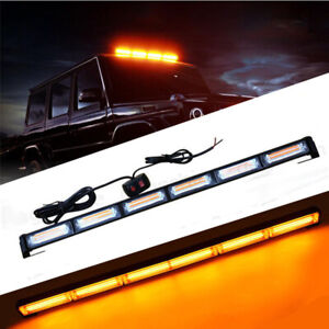 108w Cob Led Work Light Bar Traffic Advisor Emergency Flash Strobe Warn Lamp Kit