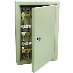 30 key Hanger Cabinet Wall Mount Lock Box Safe Storage Organizer W Numbered Tags