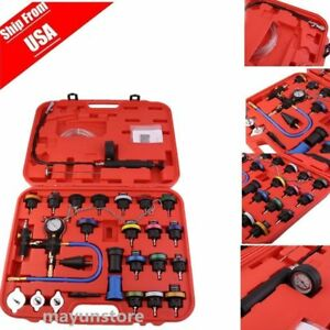 28x Cooling System Radiator Pressure Tester Kit W coolant Purge refill Adapter V