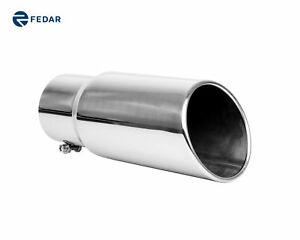 Inlet 5 Outlet 6 Inch Rolled End Angle Cut Truck Exhaust Tip Tail Pipe Tailpipe