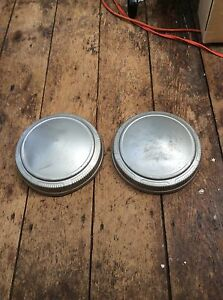 Dodge Mopar Scat Pack Max Wedge 9 Silver Dog Dish Hubcaps