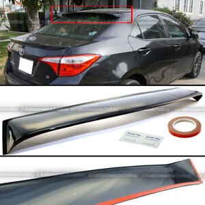 For 14 18 Toyota Corolla Rear Window Roof Sun Rain Shade Vent Visor Spoiler