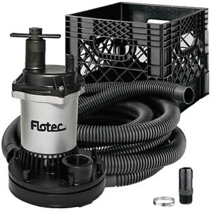 Flotec Fp0s2600rp 36 6 Gpm 1 4 Hp 1 Stow Flo trade Utility Pump Kit