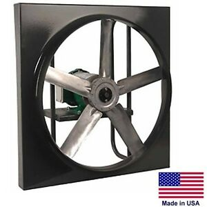 12 Exhaust Fan Direct Drive 1472 Cfm 1 4 Hp 230 460v 3 Ph Commercial