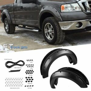 Textured 2004 2008 Ford F150 Pocket Riveted Fender Flare Cover Trim Paintable