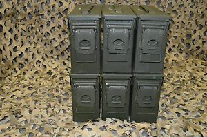 6 PACK ONCE USED MILITARY 7.62 30 Cal M19A1 AMMO CAN ** FREE SHIPPING** $74.95