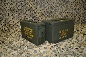 * 2 Pack * Combo 50 Cal 308 Cal AMMO CAN GREAT CONDITION ** FREE SHIPPING ** $33.95