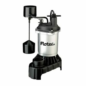 Flotec Fpci5050 1 2 Hp Cast Iron Zinc Submersible Sump Pump W Vertical F