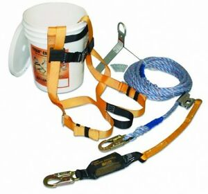 Fall Protection Kit Safety Harness Equipment Construction Height Fall Roof