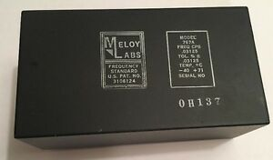 Meloy Laboratories Reference Generator Frequency Standard 767a Hook Connect