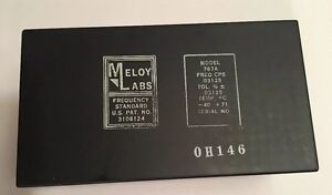 Meloy Laboratories Reference Generator Frequency Standard 767a Loop Connect