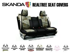 Coverking Realtree Camo Custom Front And Rear Seat Covers For Toyota Tundra