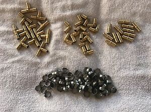 36 Piece 1 2 Pex Brass Crimp On 90 Elbow Tee Coupling Fittings With Rings