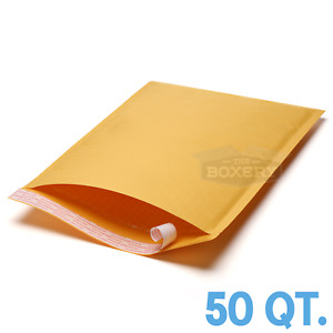 50 5 10 5 X 16 Kraft Bubble Padded Envelopes Mailers From The Boxery