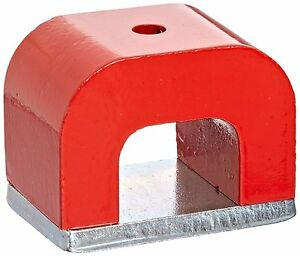 Horse Shoe 30lbs Red Cast Horseshoe Heavy duty Alnico Power Magnet For Education