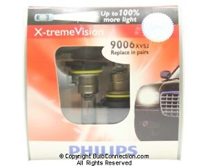 New Philips 9006 Extreme Vision 2 Pack 9006xvs2 Bulb