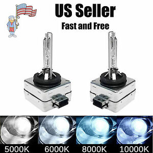 2pcs D1s D1c D1r Hid Xenon Headlight Replacement Bulbs 5000k 6000k 8000k 10000k