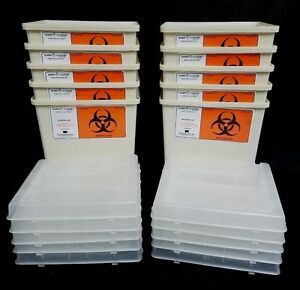 Lot Of 10 Sharps Needle Container 1 Gallon Sharps a gator Biohazard Tatoo
